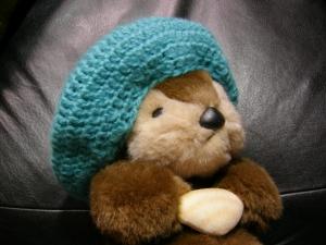 かぎ編みベレー帽
