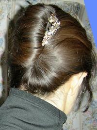 ケミカル染めの髪
