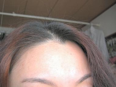 ヘナ100%で染めた髪