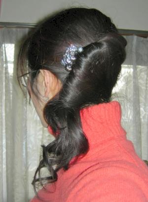 髪を巻いてみた