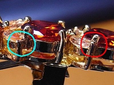 バレッタの爪のカケ