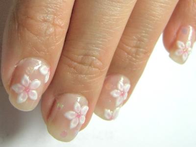 ちょっと季節ずれの桜ネイル