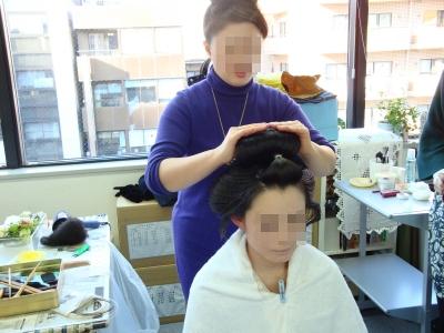 地毛結い日本髪【古典花嫁・文金高島田】結髪実演会