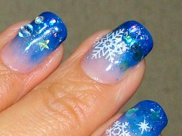 雪の結晶 ジェルネイル