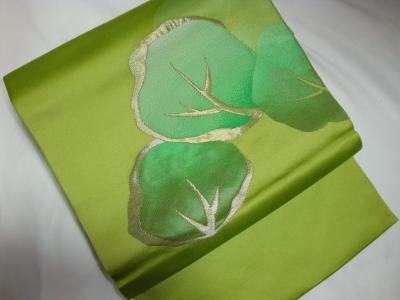 緑の名古屋帯