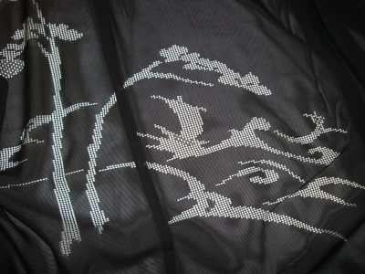 絽の羽織 真っ黒