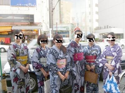 集合写真@絞り浴衣嬢(笑)