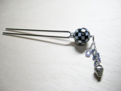 シェルボールの珠かんざし