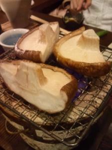 どんこ椎茸の網焼き