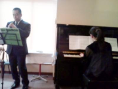 オーボエ奏者とピアノ