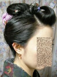 なんちゃって日本髪その2