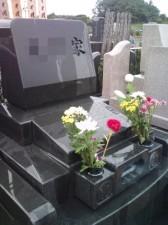 雨の墓参り