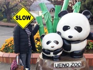 パンダとツーショット?