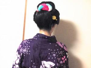 なんちゃって日本髪