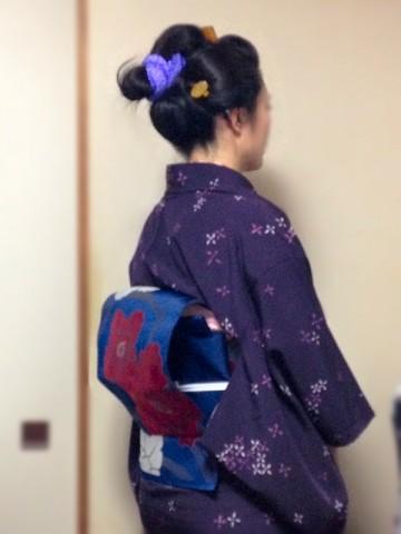 神楽坂きものフリマ2014秋コーディ