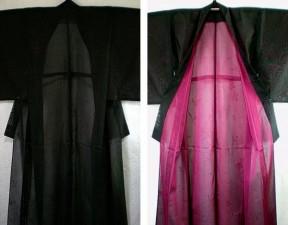 ピンクの紗